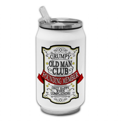Grumpy Old Man Club Novelty Thermos Drinking Can